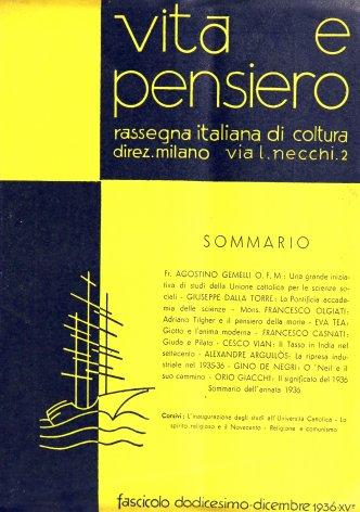 Sommario dell'annata 1936