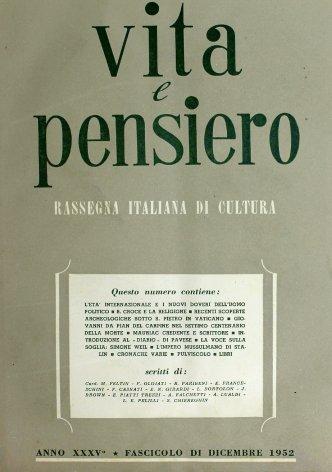 Sommario dell'annata 1952