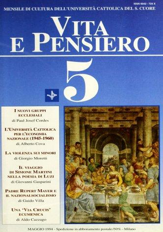 Sviluppo economico ed economia nazionale: alcuni orientamenti in Università Cattolica (1945-1960)
