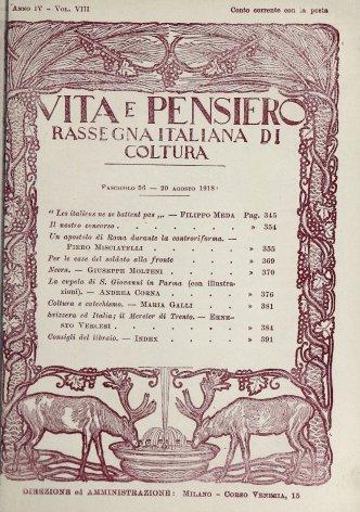 Svizzera ed Italia; il Mencier di Trento