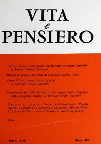 Tra Settecento e Novecento: sul tradurre da opere letterarie