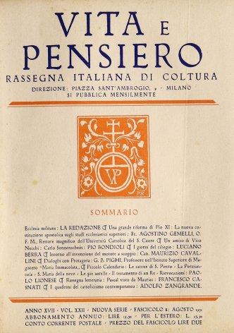 Una grande riforma di Pio XI: la nuova costituzione apostolica sugli studi ecclesiastici superiori