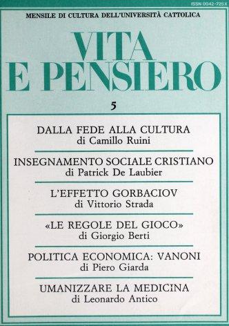 Vanoni e la politica economica