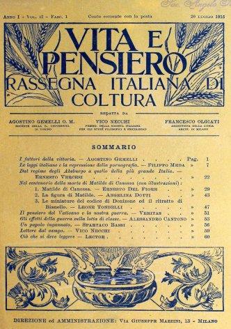 VITA E PENSIERO - 1915 - 7