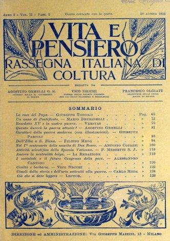 VITA E PENSIERO - 1915 - 8