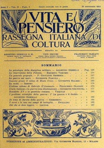 VITA E PENSIERO - 1915 - 9