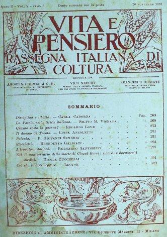 VITA E PENSIERO - 1916 - 11
