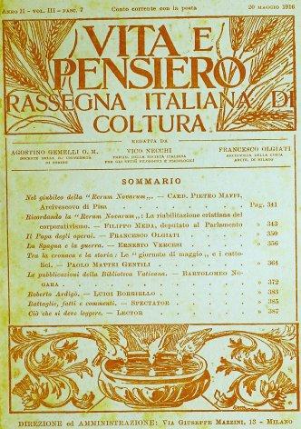 VITA E PENSIERO - 1916 - 5