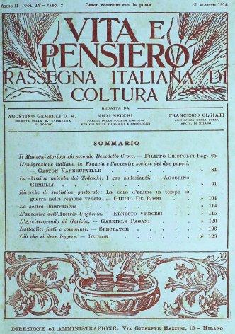 VITA E PENSIERO - 1916 - 8