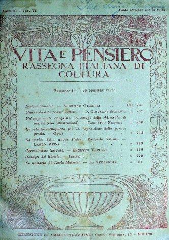 VITA E PENSIERO - 1917 - 12