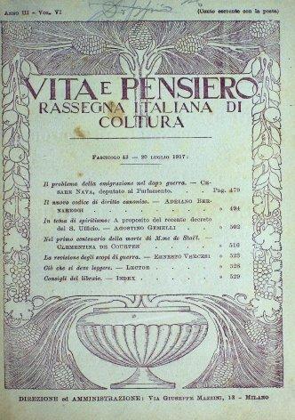VITA E PENSIERO - 1917 - 7