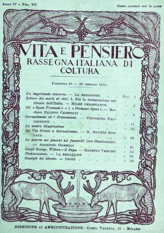 VITA E PENSIERO - 1918 - 1
