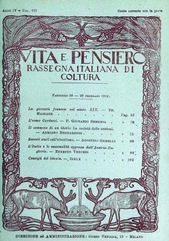 VITA E PENSIERO - 1918 - 2