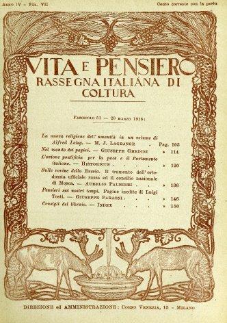 VITA E PENSIERO - 1918 - 3