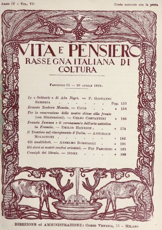 VITA E PENSIERO - 1918 - 4