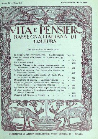 VITA E PENSIERO - 1918 - 5