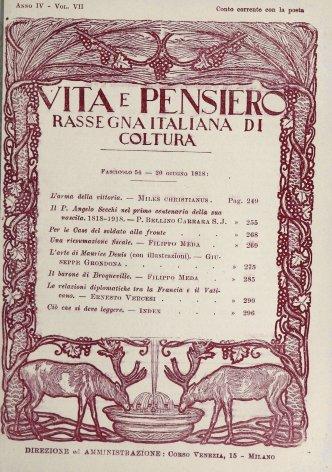 VITA E PENSIERO - 1918 - 6