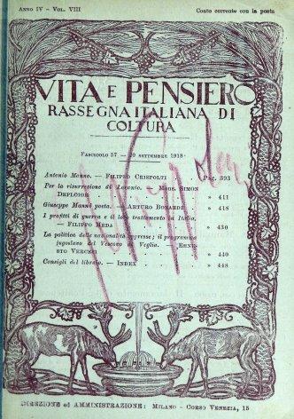 VITA E PENSIERO - 1918 - 9