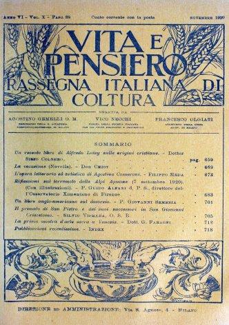 VITA E PENSIERO - 1920 - 11