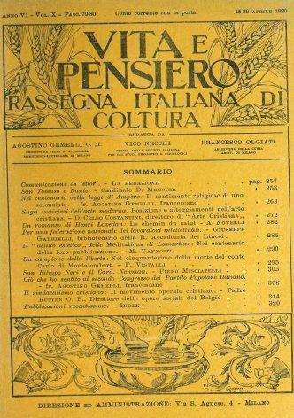 VITA E PENSIERO - 1920 - 4