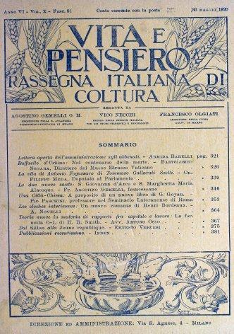 VITA E PENSIERO - 1920 - 5