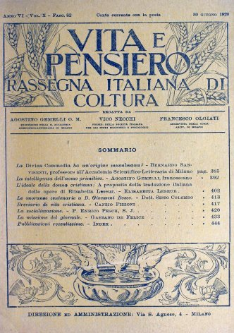 VITA E PENSIERO - 1920 - 6