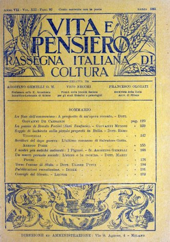 VITA E PENSIERO - 1921 - 3