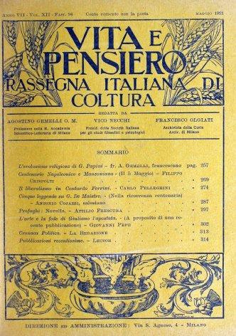 VITA E PENSIERO - 1921 - 5