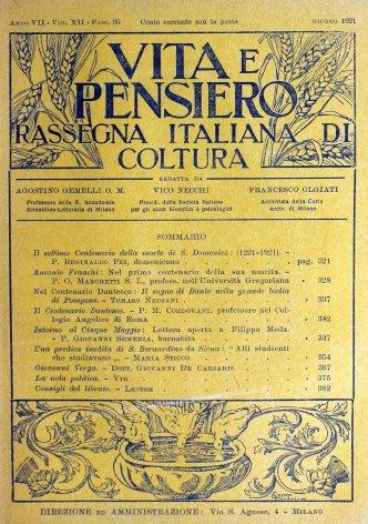 VITA E PENSIERO - 1921 - 6