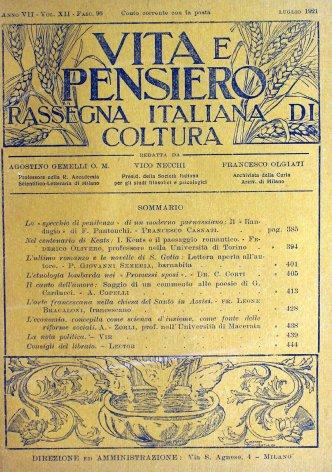 VITA E PENSIERO - 1921 - 7