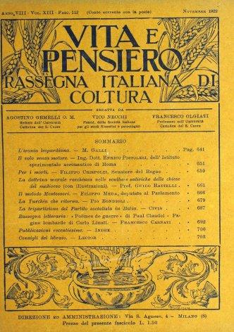 VITA E PENSIERO - 1922 - 11