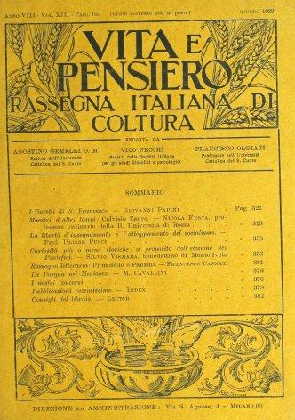 VITA E PENSIERO - 1922 - 6