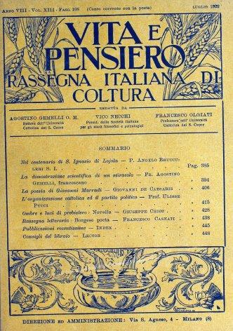 VITA E PENSIERO - 1922 - 7