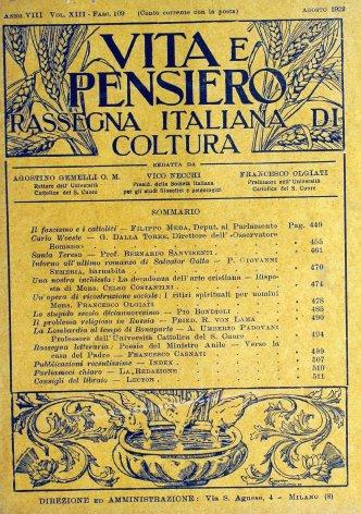 VITA E PENSIERO - 1922 - 8