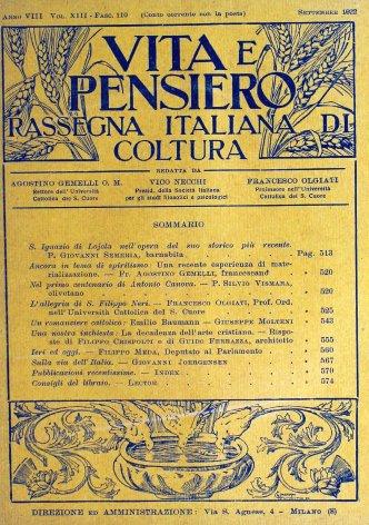 VITA E PENSIERO - 1922 - 9