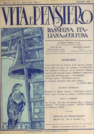 VITA E PENSIERO - 1923 - 1