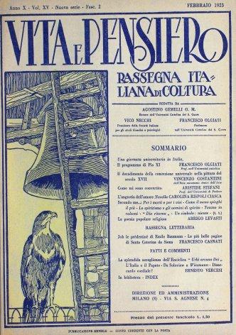VITA E PENSIERO - 1923 - 2