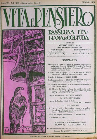 VITA E PENSIERO - 1923 - 6