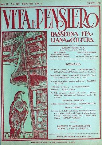 VITA E PENSIERO - 1923 - 8