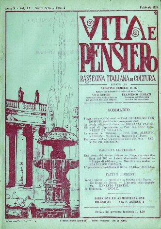 VITA E PENSIERO - 1924 - 2