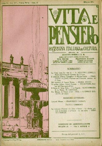VITA E PENSIERO - 1924 - 6
