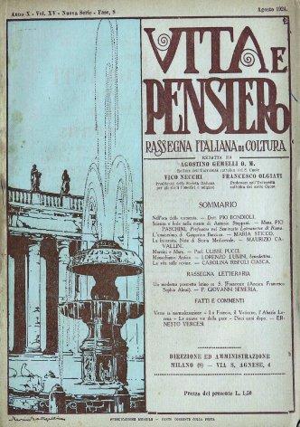 VITA E PENSIERO - 1924 - 8