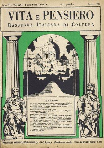 VITA E PENSIERO - 1925 - 8