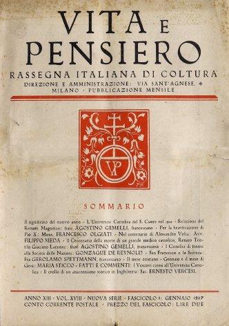 VITA E PENSIERO - 1927 - 1