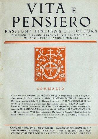 VITA E PENSIERO - 1927 - 12