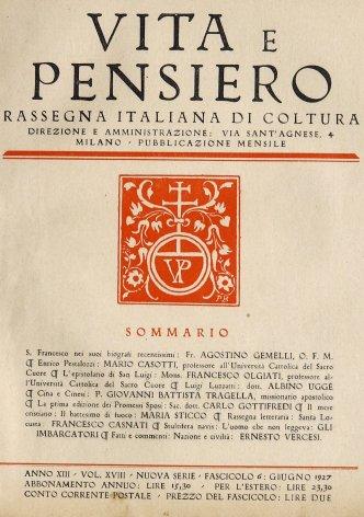 VITA E PENSIERO - 1927 - 6