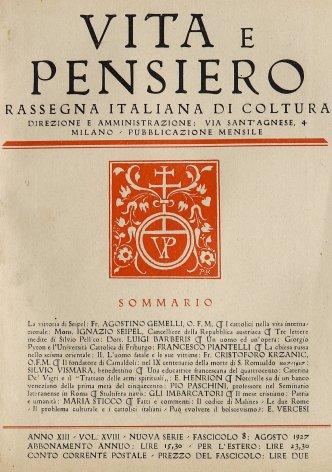 VITA E PENSIERO - 1927 - 8