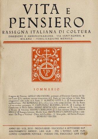 VITA E PENSIERO - 1927 - 9