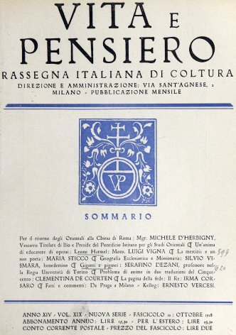 VITA E PENSIERO - 1928 - 10