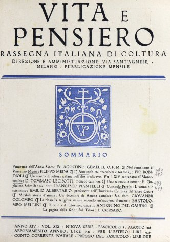 VITA E PENSIERO - 1928 - 8